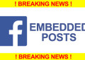 Facebook Introduces Embedded Posts